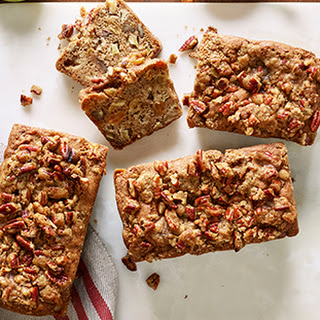 Spiced Apple-Pecan Loaf with Pecan Praline Topping