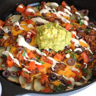 Loaded Skillet Potato Nachos Recipe