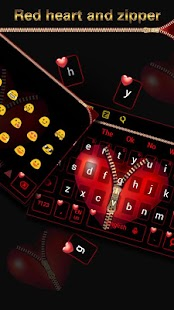 Red Zipper Heart Keyboard - náhled