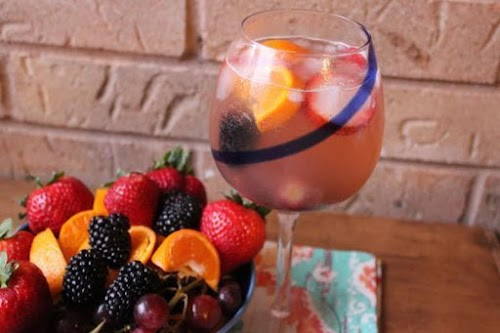"""White Sangria """"It's the perfect balance of fruit and wine. I can't..."""