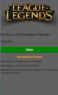 Lol Hesaplayıcı - náhled