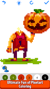 Halloween Pixel Art:Paint by Number, Coloring Book Screenshot