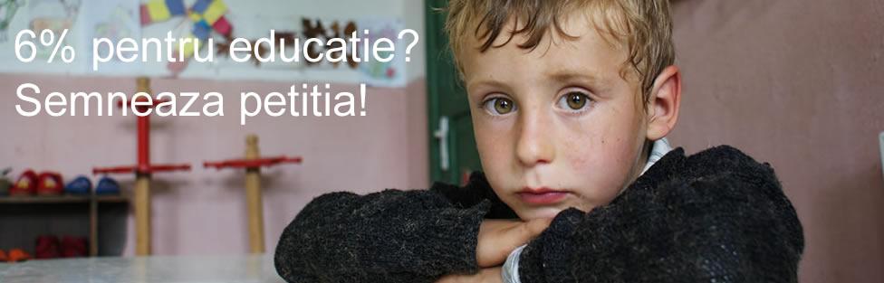 Petitie 6% pentru educatie