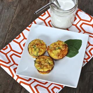 Leek + Asparagus + Spinach Mini Quiche.