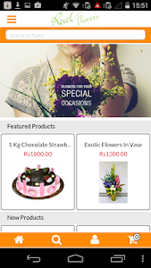 Real Flowers Indian Florist screenshot 1
