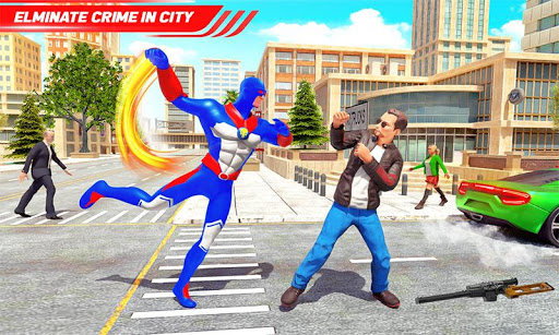 Flying Police Robot Rope Hero: Gangster Crime City apkmr screenshots 5