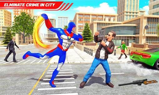 Flying Police Robot Rope Hero: Gangster Crime City 5