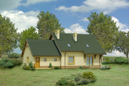 projekt Dom za rogiem - wariant I - C110a