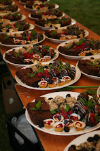 Photo: Selecting desserts for the reception.
