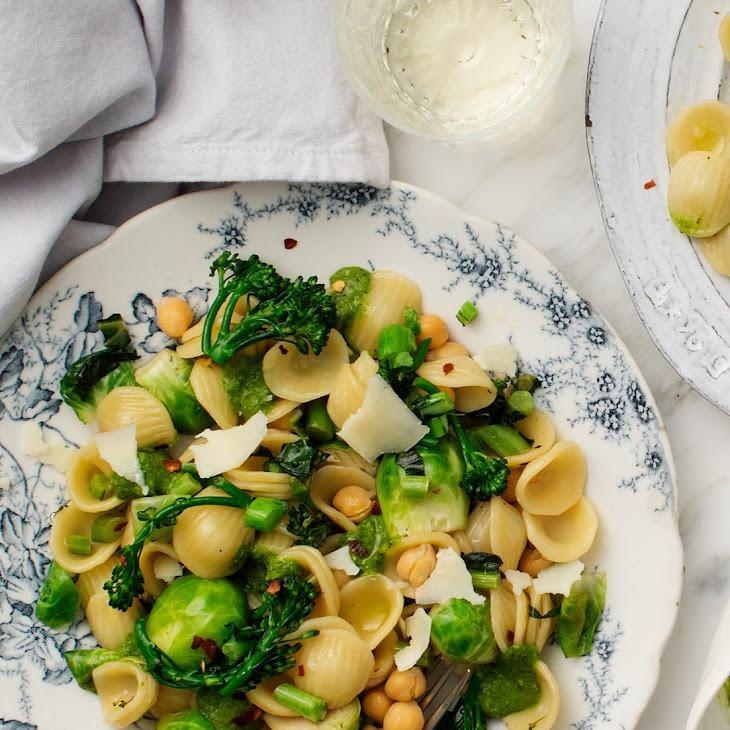 Broccoli & Brussels Sprout Orecchiette Recipe