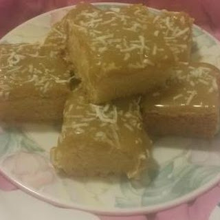Coconut and Ginger Crunch Slice.