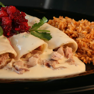 Low Sodium Turkey Enchiladas and Cranberry Salsa