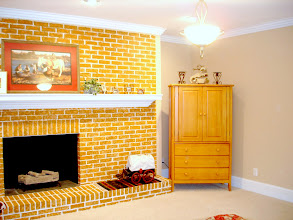 Photo: Bedroom #4: 16'x 17' Guest Room. Natural gas and wood burning, masonry fireplace with a full wall to wall mantel