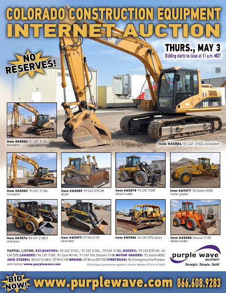 Photo: Colorado Construction Equipment Auction May 3, 2012 http://purplewave.co/120503A