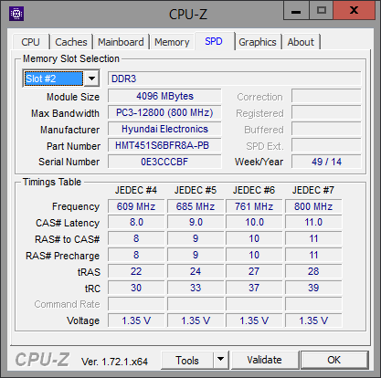 CPU-Z SPD Original Memory