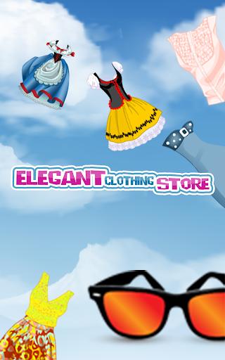 エレガントな衣料品店