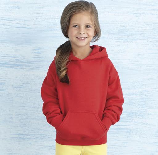 Gildan Heavy Blend Children's Hooded Sweatshirt - Red