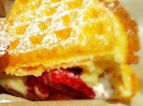 Strawberry / Banana Belgian Waffle Smores Recipe