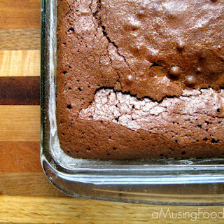 Rich and Chewy Cocoa Brownies.