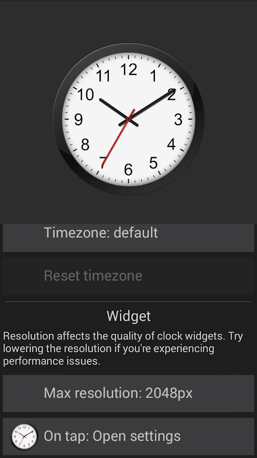 Clock- screenshot