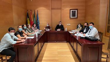 La reunión, presidida por el alcalde Luis Díaz.