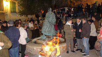 La Plaza del mirador de la Alcazaba se convirtió en el punto de encuentro de la Fiesta.