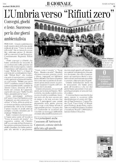 Verso La Società del Riciclo - Rassegna Stampa Dee Creative e Altro - 27_28 aprile 2013