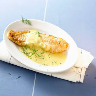 Roasted Cod with Wine and Herb Butter.
