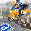 Flying Police Bike Rider Marshal : Rescue Mission icon