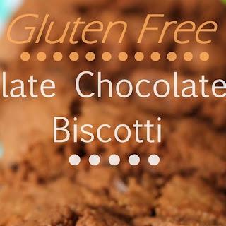 Gluten Free Chocolate Chocolate Chip Biscotti