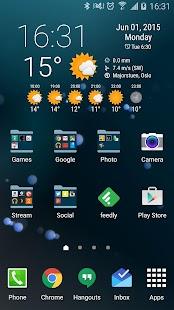 Simple Time & Weather Widget - screenshot thumbnail