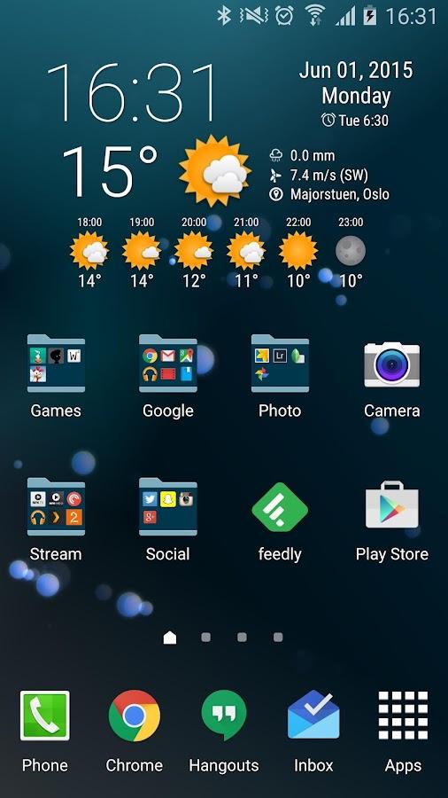 Simple Time & Weather Widget - screenshot