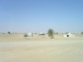 Photo: w drodze do Nouakchott - zmieniający się krajobraz