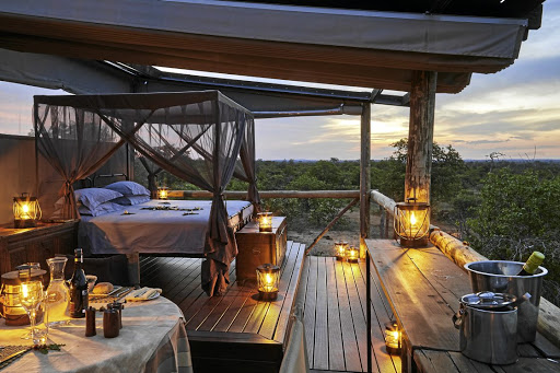 Giraffe's Nest, where guests can spend the night alone in the bush, is the lodge's ultimate treat.