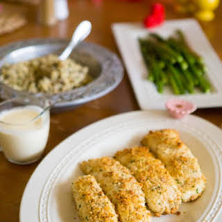 Easy Macadamia Crusted Halibut With Quick Lemon Butter Cream Sauce.