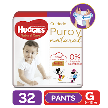 Pañales Huggies Etapa 3 G Pants Natural Care x 32 und