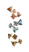 """Photo: LOIS SASSON Exclusively ours. """"Either Or"""" cuff links in 18k pink gold with citrine, 18k white gold with topaz or 18k yellow gold with amethyst. $5,265. Also available in peridot, garnet or custom coloring. USA. First Floor, The Men's Store. 212 339 3290"""