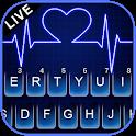 Neon Blue Heartbeat Keyboard Theme icon