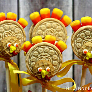 Thanksgiving Oreo Cookie Turkey Pops