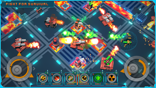 Blocky Bot : Endless Top-Down Shooter  screenshots 1