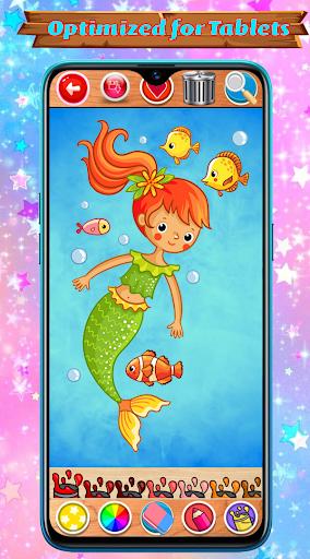 Mermaid Coloring Book Glitter screenshot 10