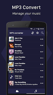 Convertisseur mp3 Capture d'écran