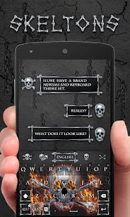 Fire Skeleton GO Keyboard Theme - náhled