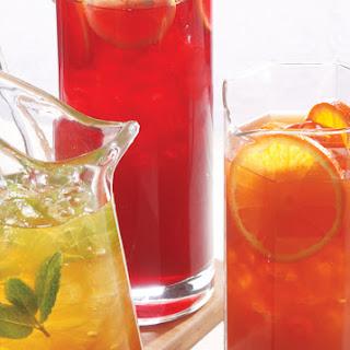 Hibiscus-Pomegranate Iced Tea.