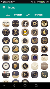 N Theme – Gold Icon Pack 1.6 [Mod + APK] Android 2