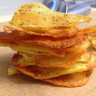 Potato Chips Oven Baked.