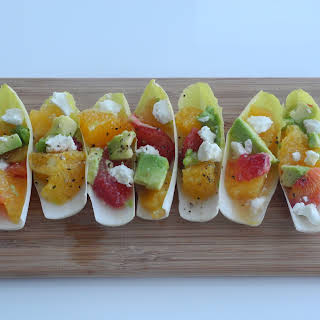 Endive Citrus Salad with Avocado and Goat Cheese.