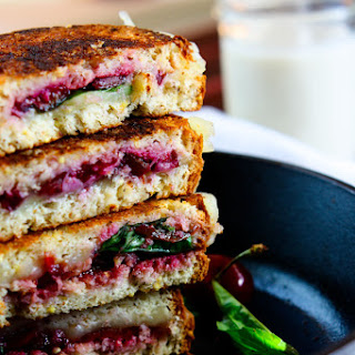 Cherry Basil and Provolone Grilled Cheese {Gluten free}