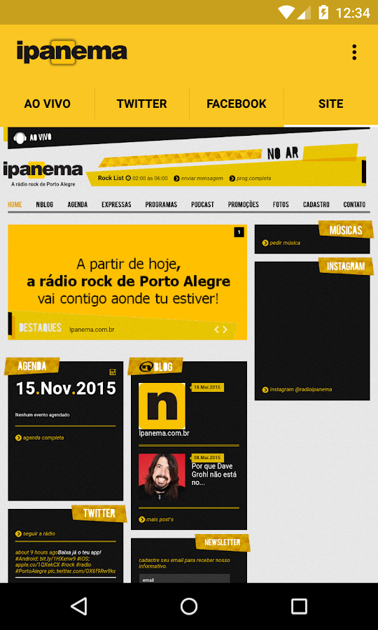 Ipanema FM- screenshot