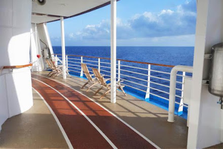 Start your day off by hitting the walking track on deck 5.